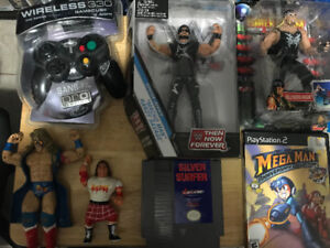 Vintage video game and toy lot
