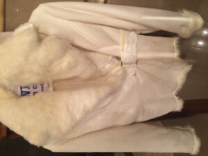 Costa blanca white suede jacket