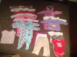 Lot of 6-12 Month Girls Clothes - 18 Items in Total