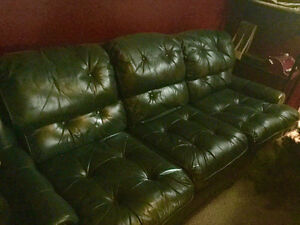 Leather couch (Tuft)