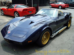 CORVETTE CAN AM HOOD AND SPARE TIRE TUB EXCELLENT CONDITION