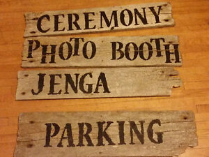 Rustic Board Wedding Signs Peterborough Peterborough Area image 1