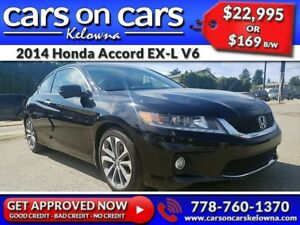 2014 Honda Accord Coupe EX-L V6 w/Leather, Sunroof, Navi, BackUp