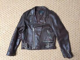 Jarvis Bond, Genuine Leather retro Biker / Rocker Jacket, 42 chest