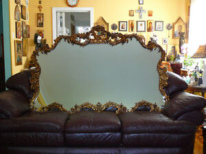 """miroir vintage/1950 styleBaroque t. grand 3'8""""x5'5"""", cadre doré West Island Greater Montréal image 3"""