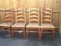 Four Dining Chairs £40