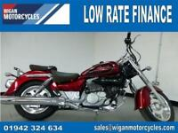 2018 HYOSUNG GV125C CRUISER..56.11 OVER 60M WITH A 99 POUNDS DEPOSIT.9.9%