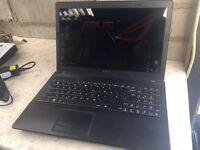 Asus x54h laptop i3 2.10ghz 4gig ram 500 gig hd wifi win 10 working