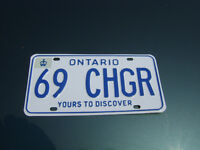 1969 Dodge Charger Lic Plates