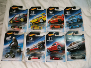 RARE Hot Wheels Honda Complete 8 car Set (U.S.A. Exclusive)