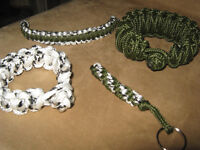 Cool Looking Paracord Bracelets and Keychains