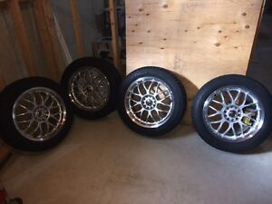 Aluminum rims and winter tires
