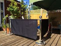 Catering partition bar for outdoor events