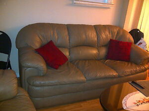 Reduced - Leather couch and love seat! Windsor Region Ontario image 4
