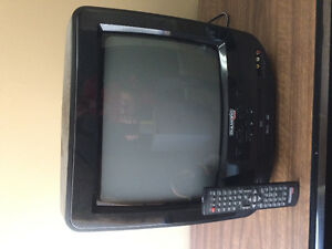 Black TV with built in DVD player
