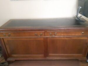 Office Desk, Bookself and Credenza for Sale