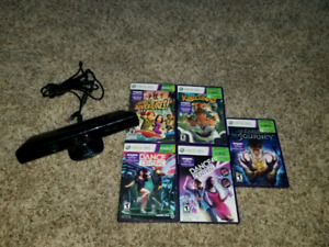 Kinect for Xbox along with 5 games