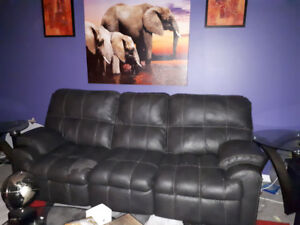 Leather couches recliner