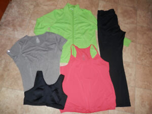 5 sets of active/leisure wear clothing
