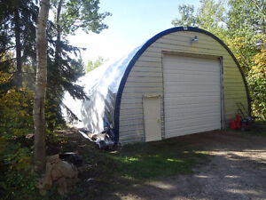 Tarp Cover for Equipment Shed