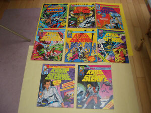 LOT OF 8 GERMAN COMICS SUPERMAN AND STAR WARS 1980'S