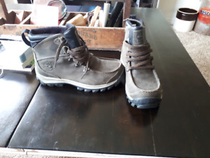 Mens 7 or Womens 9 Timberland leather short hiking/winter boots
