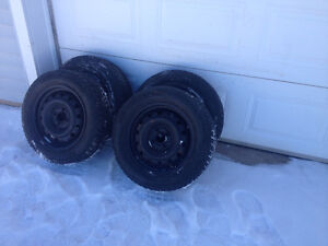 Set of 4 Honda Civic winter tires and rims for sale