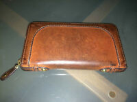 Portefeuille cuire brune / Brown leather wallet