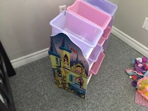 Princess storage bin rack