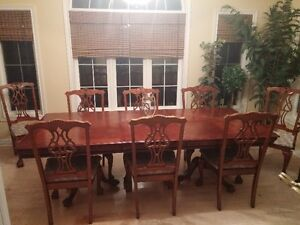 Dining Room Table, 8 Chairs, Huge Cabinet