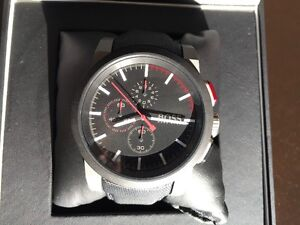 Beautiful Hugo Boss Chronograph Black Dial Mens Watch
