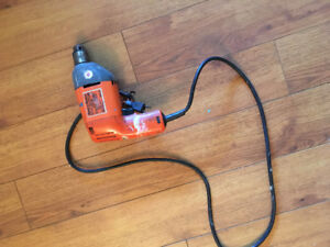 Black and Decker corded drill - orange