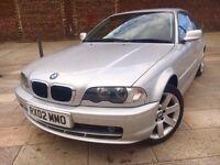 2002 BMW 318CI SE ++ ALLOYS ++ ELECTRIC WINDOWS ++ CD ++ AIR CON ++ AUGUST 2017 MOT.
