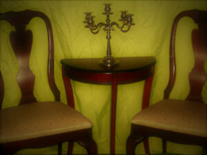 Antique Chairs and bombay india side table.