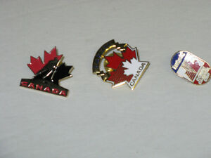 3 DIFFERENT TEAM CANADA LAPEL PINS FROM  LABATT'S BEER