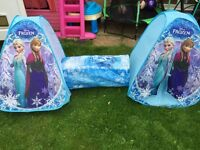 Frozen elsa and Anna tents and tunnel