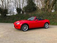 2006 56 MAZDA MX5 2.0i SPORT BRIGHT RED BEAUTIFUL CONDITION 1 PREVIOUS OWNER