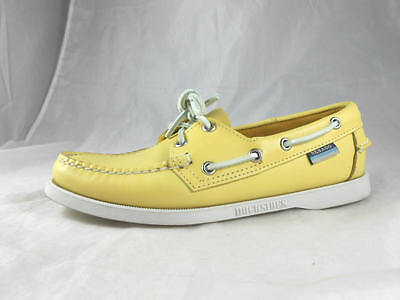 Great Barely Used  SEBAGO Docksides Classic  Cornflower Yellow  Boat Shoes 7 M