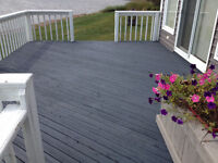 Special year end deck staining $50 off regular prices