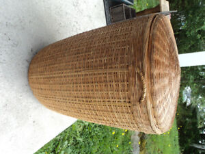 Vintage Wicker Basket with Cover