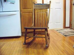 Vintage Pressback Rocking Chair