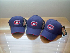 Casquettes  NHL - bleues avec logo des Canadiens - NEUVES