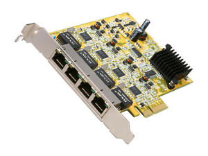 4 Port PCi Express Gigabit Ethernet Nic Network Adapter Card