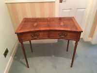 Yew Insert Side Table with Double Draws