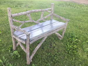 Jack Pine+Willow Rustic Bench