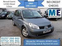 **£40 A WEEK** Renault Scenic 1.9 DCi 130 Maxim, DIESEL MPV, 12M MOT EW CD RCL