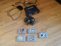 nintendo 64 and 5 games