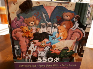 PATTES FOLLES 550 piece Paws Gone Wild puzzle