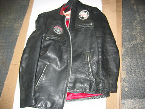 Used Motorcycle jacket. Thick leather.
