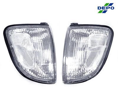 Jdm Corner Lights - DEPO JDM Pair Clear Corner Lights For 1997-2000 Toyota Tacoma 2WD Non-Prerunner